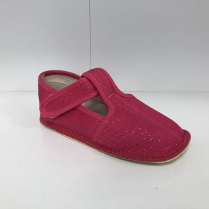 Papuče Beda BF 060010/W/SLIM ružové trblietky