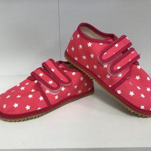 Papuče Beda BF 060010/W ružové hviezdy