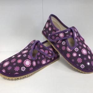 Papuče Beda BF 060010/W fialové kvietky
