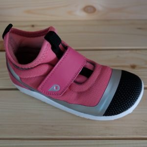 Bobux Hi Dimension Hi Top Fuchsia Silver