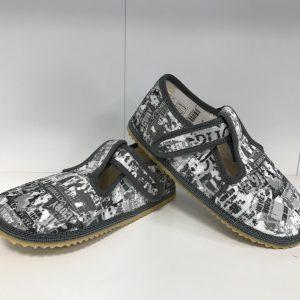 Papuče Beda BF 060010/W šedý nápis