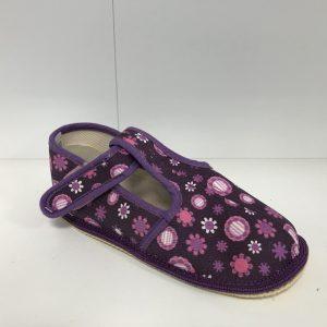Papuče Beda BF 060010/W/SLIM fialový kvietok