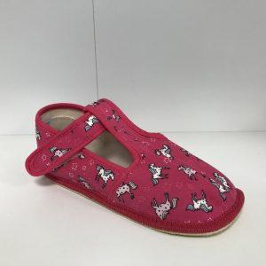 Papuče Beda BF 060010/W/SLIM ružový koník