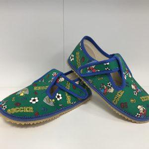 Papuče Beda BF 060010/W zelený futbal