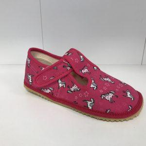 Papuče Beda BF 060010/W ružový koník