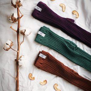 Jeej Design pančuchové vrúbkované legíny forest