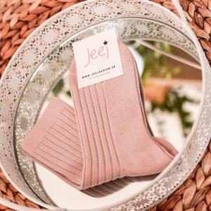 Jeej Design vrúbkované Lady powdery pink s antibakteriálnou úpravou