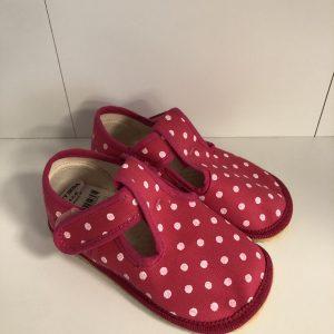Papuče Beda BF 060010/W ružové bodky
