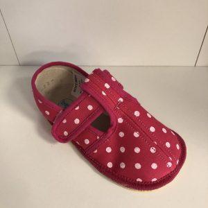 Papuče Beda BF 060010/W/Slim ružové bodky