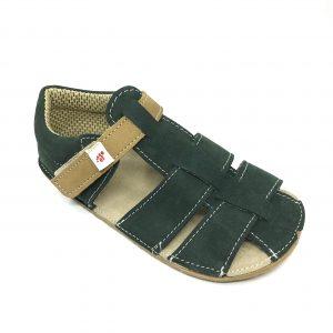 EF Barefoot sandálky Tmavo zelené