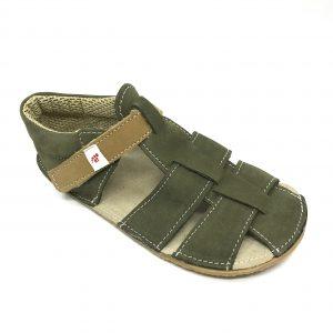 EF Barefoot sandálky Zelené Khaki