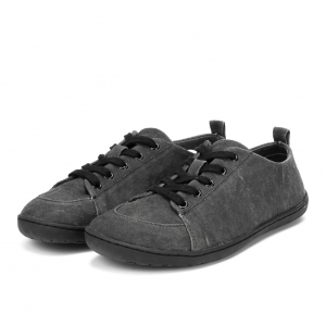 Mukishoes barefoot plátenky Obsidian low