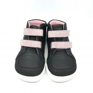 Baby Bare Shoes – Febo Fall – Black/Pink