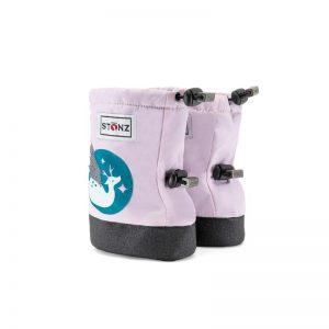 Stonz baby booties Magic Deer Print Haze pink