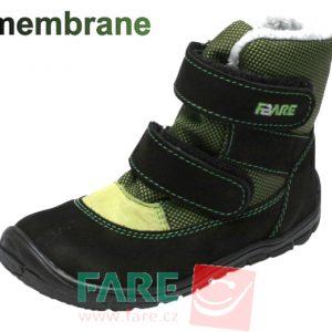 Fare Bare zateplené čierno-zelené B5441231