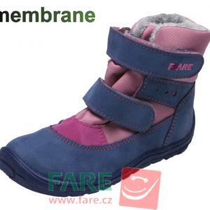 Fare Bare zateplené modro-ružové B5441251