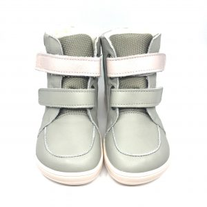 Baby Bare Shoes – Febo Winter Grey/Pink