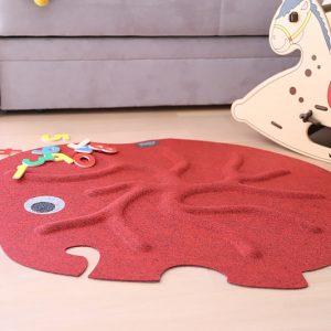 RootyRug Home koreňový koberec – Elephant Red