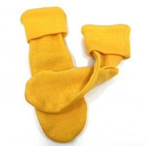 Crawler merino ponožky tenké detské – žlté