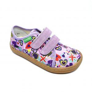 Froddo Barefoot plátenky G1700283-2 Lilac