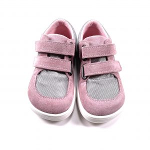 Baby Bare Shoes – Febo Sneakers – Grey / Pink