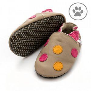 Capačky Liliputi Paws – Polka dots pink