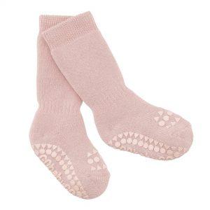 GoBabyGo zateplené protišmykové ponožky Staroružová