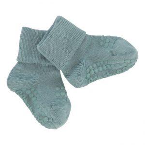 GoBabyGo protišmykové bambusové ponožky Matná modrá