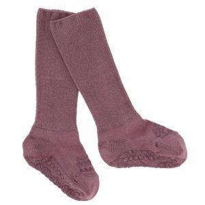 GoBabyGo zateplené protišmykové ponožky Popolavá Slivka
