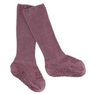 GoBabyGo protišmykové bambusové ponožky Popolavá Slivka