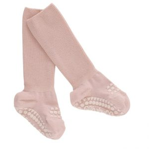 GoBabyGo protišmykové bambusové ponožky Svetloružová
