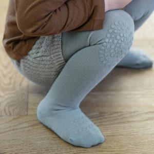 GoBabyGo detské protišmykové pančuchy Matná Modrá